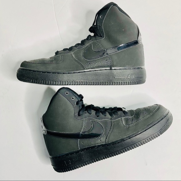 Nike Shoes Air Force 1 High Tops Black On Black Poshmark